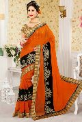 Super Net Embroidered Sarees