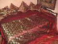 red banarasi bed cover