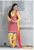 Ladies Cotton Suits With Chiffon Dupatta