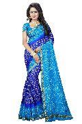 Silk Check Bandhani Saree