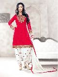Embroidered Unstitched Patiyala Suit