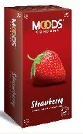 Moods Strawberry Flavoured Condoms