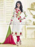 Flower Embroidered Salwar Suit