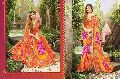 Orange Bandhej Sarees