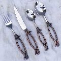 Steel Brass Cutlery Set (sm 1574)