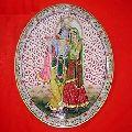 Radha krishna Marble Painted Plate