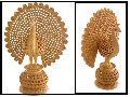 Wooden Dancing Peacock Statue