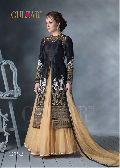 Designer Black Salwar Kameez Dupatta