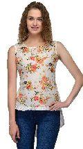 Sifli Floral Shirt Sleeve Women Top