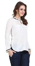 Women  Solid Colour Full Sleeve  Ladies Tops