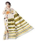 Bengal Cotton Designer Saree with Hand Paint