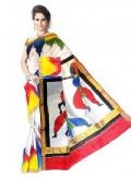 Kerala Cotton Hand Painted Saree