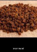 Round Brown Raisins