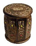 Wooden Round Shaped Money Box