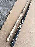 1/2 Bridge Ash Wood Black Cue Stick