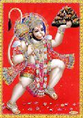 SMALL HINDU GODS POSTERS WITH GLITTER