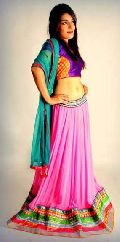 Onion Pink Georgette Lehenga Choli