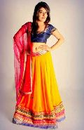 Orange Georgette Lehenga Choli