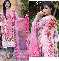 Embroidered Suit with Net Dupatta