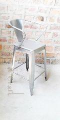 Armrest metal bar chair
