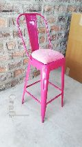 Metal bar stool with cushion seat