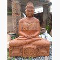 Sandstone Buddha sitting statue