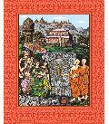 Amaravati Maha Stupa Art Prints On Silk