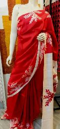 Hand print pure silk with blouse peice