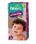 Large 50 Pampers active baby
