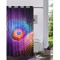 Lushomes Digitally Printed 3D Design Shower Curtain