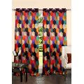 6 Metal Eyelets Doors Lushomes Digitally Printed Galaxy Polyester Blackout Curtains