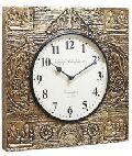 Lakshmi Ganesh Brass Fitted Wall Clock