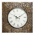 Square Brass Wall Clock