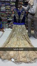 Blue Golden Anarkali Suit