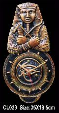 Terracotta Egyptian Mummy Wall Clock