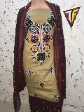 Woolen Embroidered Dress Material