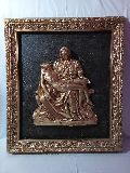 Pieta CT Copper Statue With Frame