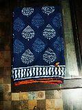bagru hand block printed cotton mal mal pom pom sarees with blouse