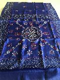 Beautiful Tussar Muga hand kantha embroidery sarees