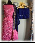 Cotton Silk Bandhani Dress Material