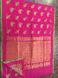 kollam pattu sarees with dotted blouse