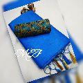 MEF printed tussar raw silk sarees