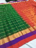 Pure gadwal pattu checks sarees