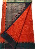 pure handloom kadhi silk sarees with plain blouse