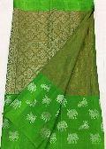 Pure Kanjivaram Tissue Silk Sarees with Running Blouse