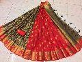 organza silk partly pallu design rich pallu saree