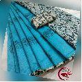 SFZ chanderi silk kalamkari printed sarees