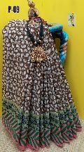YC handloom cotton printed sarees