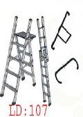 ALUMINIUM Stool Cum Straight Folding Ladder