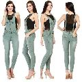Ladies Pre Ripped Cotton Dungaree